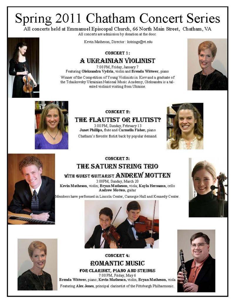 Chatham Concert Series 2011-v2