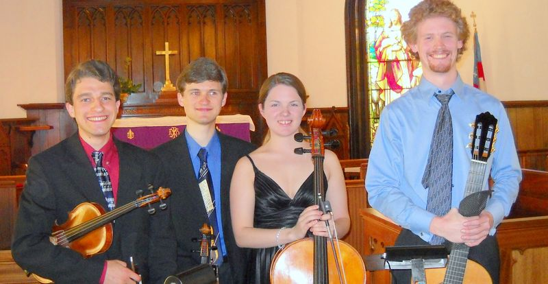 The String Musicians Kevin Matheson, Bryan Matheson, Kayla Herrmann & Andrew Motten