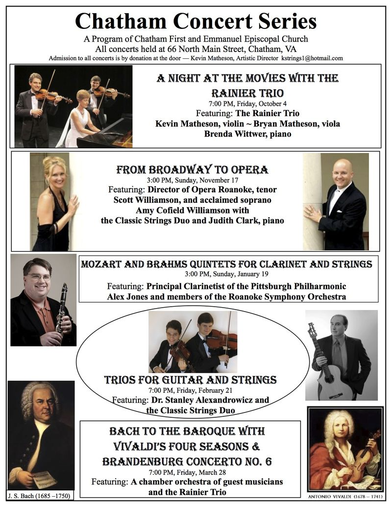 Chatham Concert Series 13-14 season poster