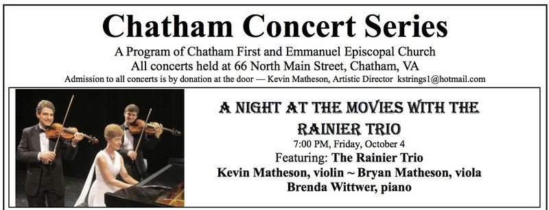Banner- Chatham Concert Series 13-14 season poster