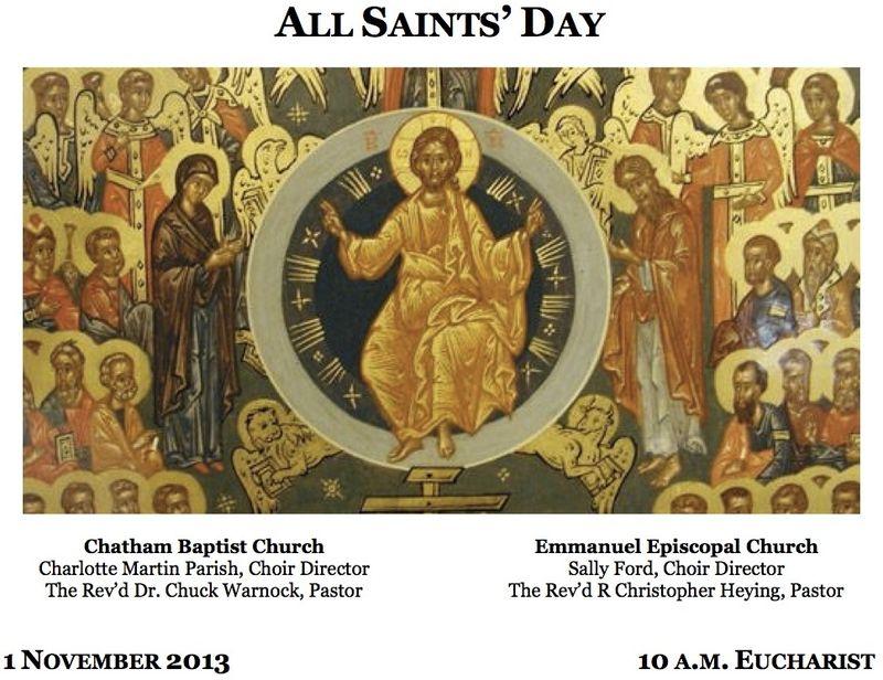 All Saints Eucharist