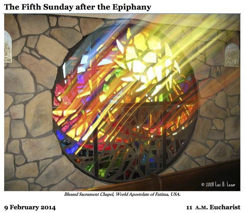 02092014 Epiphany 5