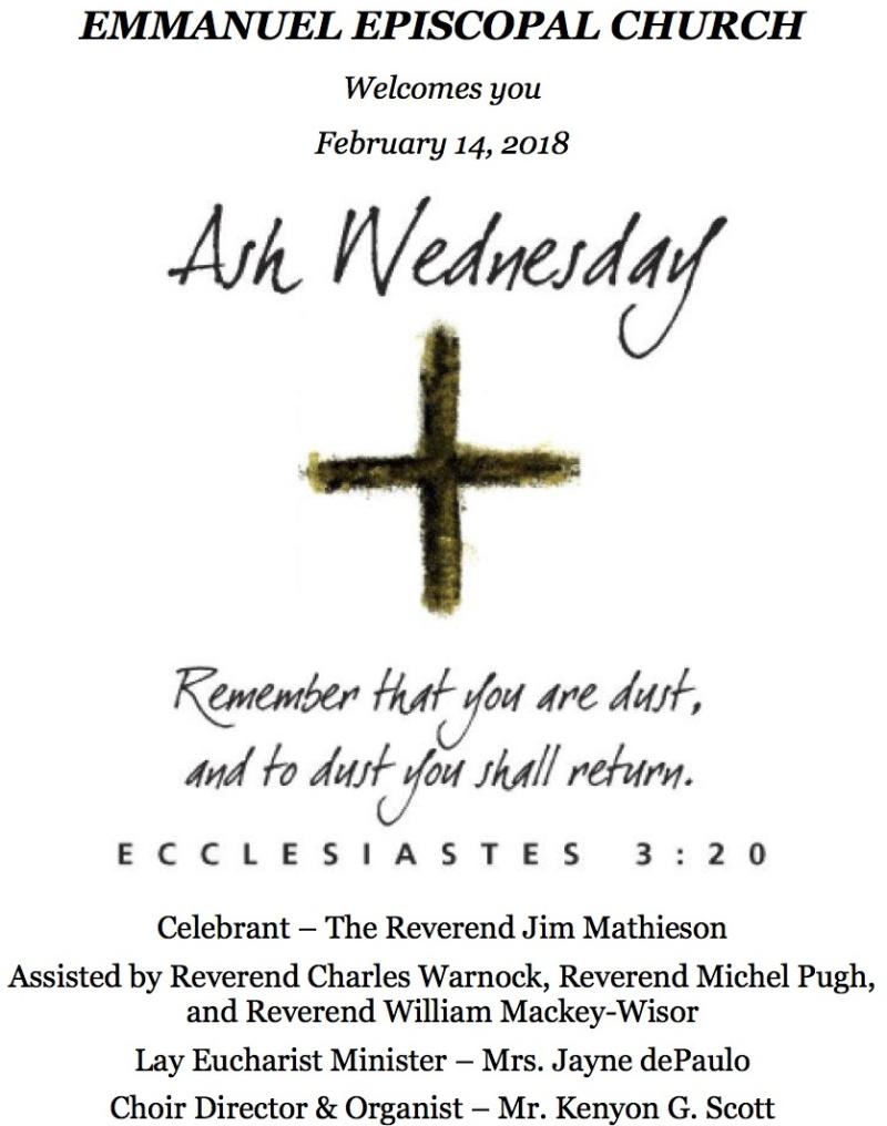 02142018_Ash Wednesday