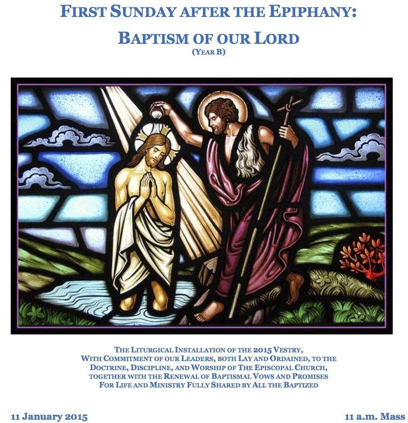 01112015 Baptism of Christ