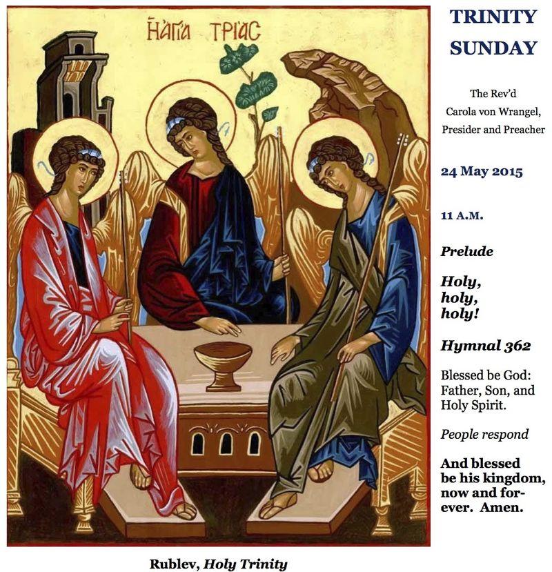 05312015 Trinity Sunday