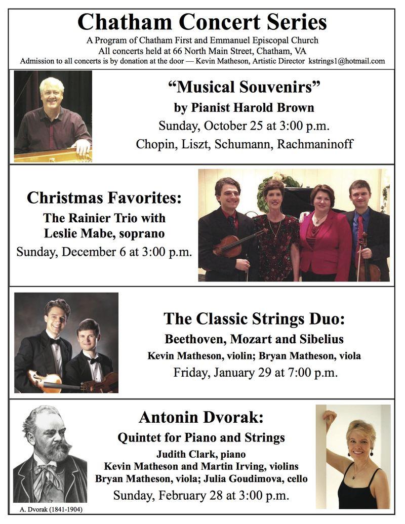 Chatham Concert Series 15-16 season poster