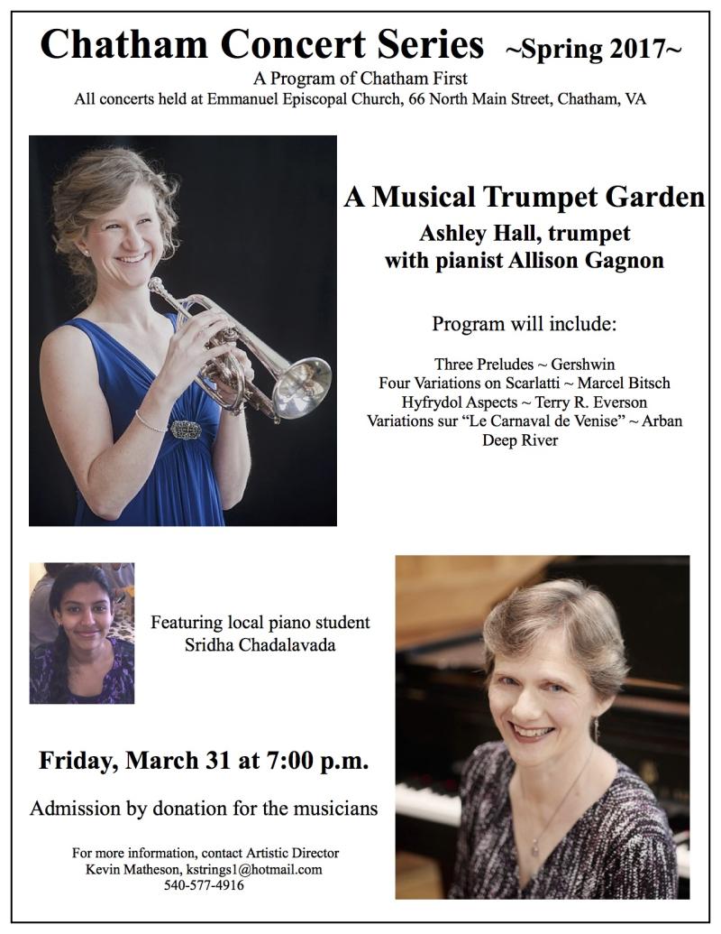 2017-3-31 Trumpet concert   poster