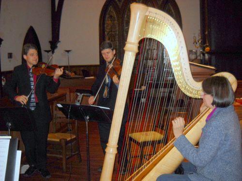 Kevin & Bryan Matheson, Helen Rifas at rehearsal